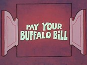 Pay Your Buffalo Bill Cartoon Picture
